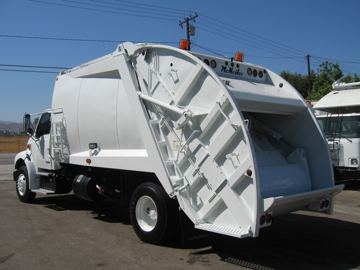 2 2003 Sterling Garbage Truck For Sale With McNeilus 20yd Rear Loader Trash Body
