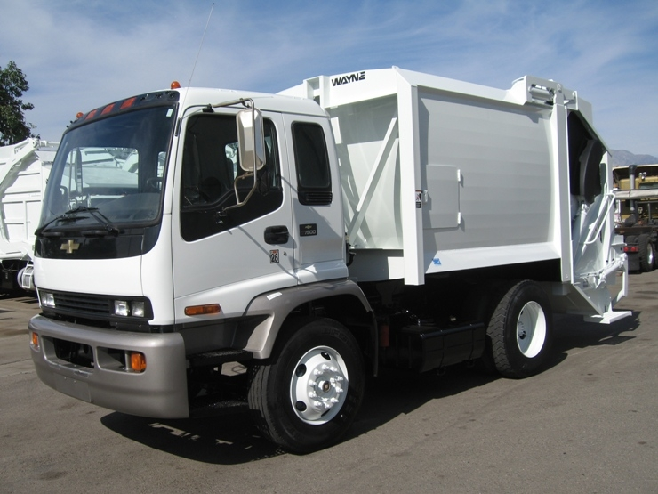 2004 Chevy T6500 Garbage Truck For Sale With Wayne 12yd