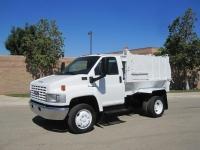 2005 GMC TopKick C4500 with Wayne Pup 6 Yard Side Loader Garbage Truck