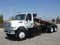 2004 International Roll Off Truck For Sale with STS Roll Off Hoist