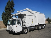 2007 Autocar Xpeditor LNG with New Way 40 Yard Front Loader Refuse Truck