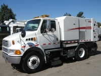 2006 Elgin Broom Bear CNG Alternative Fuel Street Sweeper on Sterling Chassis