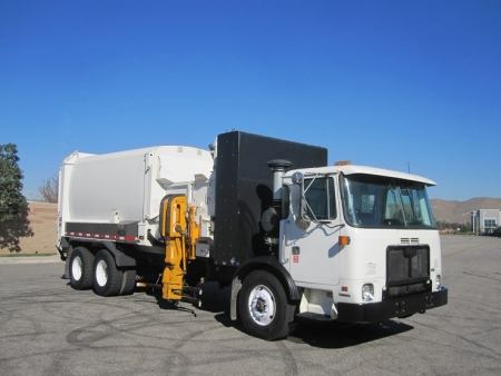 2011 Autocar Xpeditor CNG with Labrie Automizer 29yd Automated Side Loader Refuse Truck