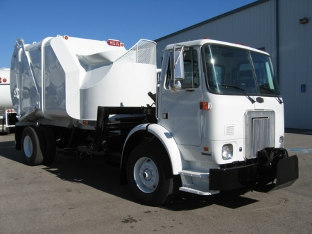 2003 Autocar with Heil Rapid Rail 20yd Automated Side Loader Refuse Truck
